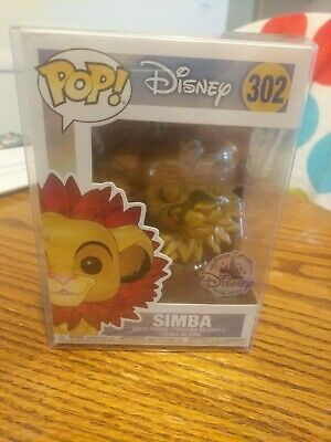 2018 Funko Pop Disney Special Edition Gold Simba Lion King IN HAND