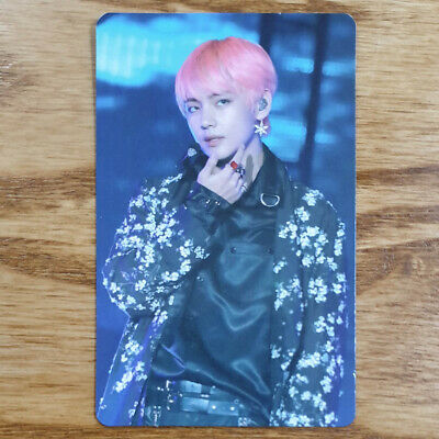 V Official Photocard BTS Love Yourself World Tour Seoul DVD Genuine Taehyung