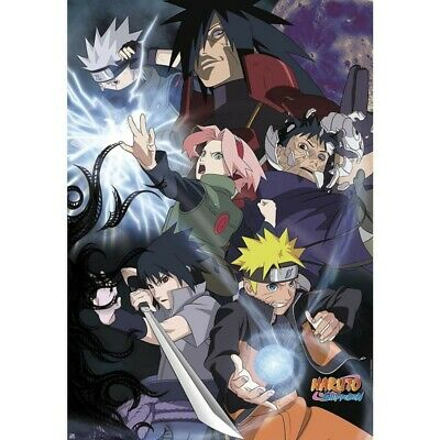 "NARUTO SHIPPUDEN - Poster ""Group Ninja War"" (98x68) DRAGON BALL -"