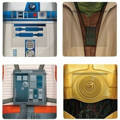 Star War Melamine Platos set 4 pcs 21x21cm