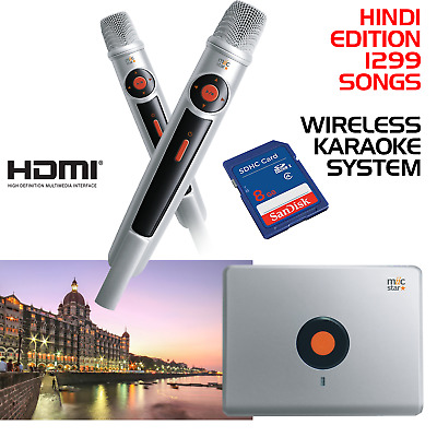 Miic Star Ms-62 Hindi Karaoke System, Wireless Mics - With 1299 Songs