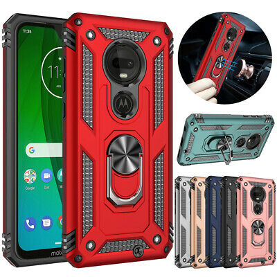 For Motorola Moto E6/G7 Plus/Play/Power/Supra Shockproof Armor Case Stand Cover