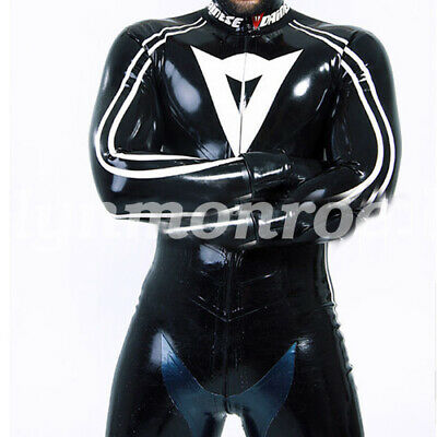 Pure Natural New Latex Rubber Men Enger hübscher Catsuit 0.4mm Size S-XXL