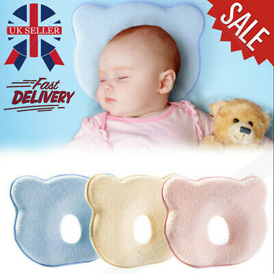 Baby Cot Soft Pillow Prevent Flat Head Memory Foam Cushion Kids Sleeping Support