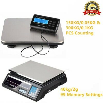 Heavy Duty Digital Postal Parcel Scales Weighing 150kg/300kg Platform Postage UK