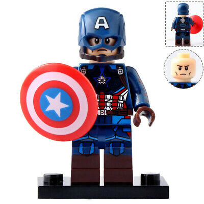 Captain America - Marvel Avengers End Game Lego Moc Minifigure Toy Collection