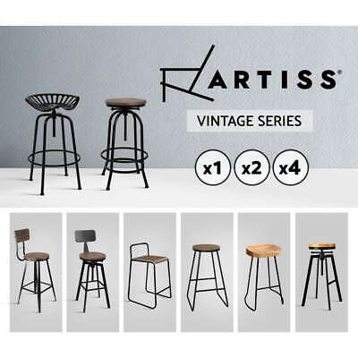 Artiss Bar Stools Kitchen Stool Wooden Barstools Chairs Vintage Metal x1/2/4
