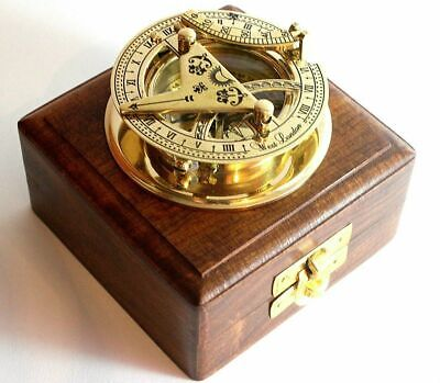 """Vintage Nautical Compass Brass Sundial Working Astrolabe compass West London 3"""""""