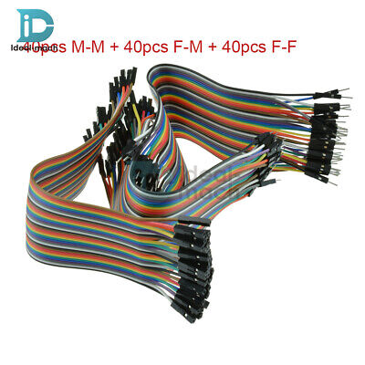20CM Dupont Wire Jumper Cable Male 2.54mm 1P-1P Female to Male Female Each 40pcs