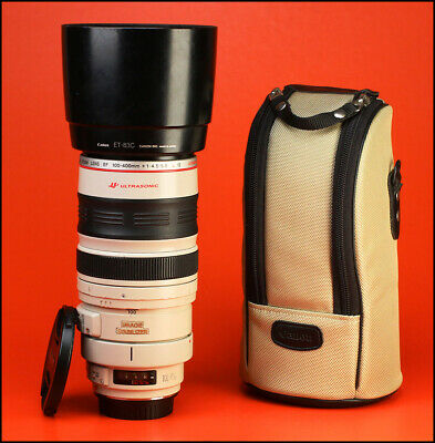 Canon EF 100-400mm F4.5-5.6 L IS USM Zoom Lens.With Front & Rear Cap,Hood & Case