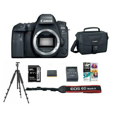 Canon EOS 6D Mark II DSLR Body With Accessory Bundle #1897C002 E