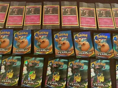 12 Pokemon Detective Pikachu PROMO CARD Packs & 18 POKEMON STICKERS GAME STOP