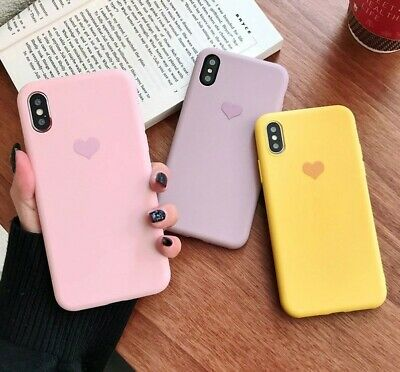 Genuine Heart Ultra Thin Silicone Case Cover For Apple iPhone 6 6s 7 8 Plus