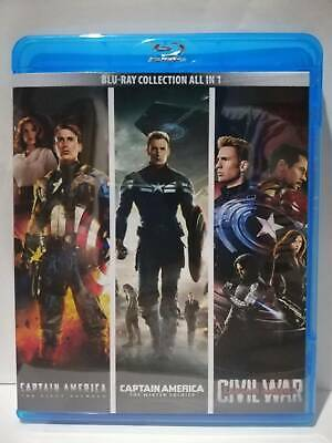 CAPTAIN AMERICA - 3 Movies Collection Blu-ray, New In Sealed