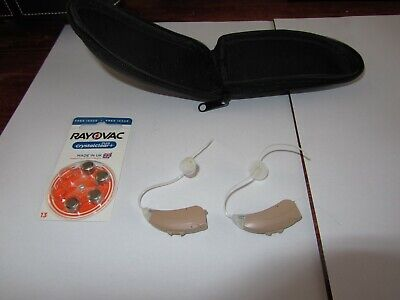 pair of Hearing Aids by Siemens Octiv M - left & right + batteries