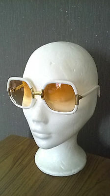 6bbbeeca6a Vintage WHITE / GOLD TED LAPIDUS SUNGLASSES - Lunettes Vintage TED LAPIDUS