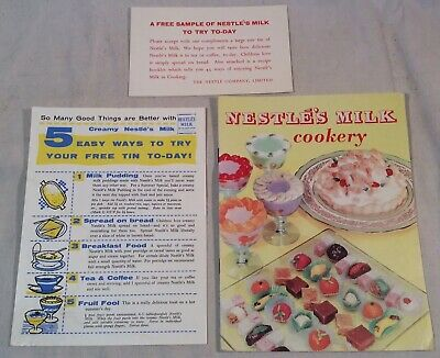 """Collectable Vintage """"Nestle's Milk Cookery"""" Booklet c.1950s"""