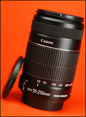 Canon EF-S 55-250mm II  F4-5.6 Image Stabilization AF Zoom Lens.With Both Caps