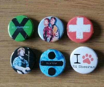 25MM BUTTON BADGE WITH D PIN ED SHEERAN PLUS NAME