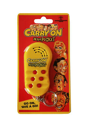 Carry On Film Official in your Pocket Talking Keychain Keyring BRAND NEW - RARE