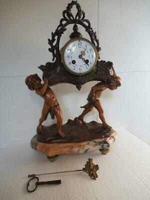 French Mantel Clock  18.5 inches.