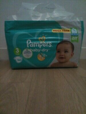 Couche pampers baby dry taille 3 pack 100