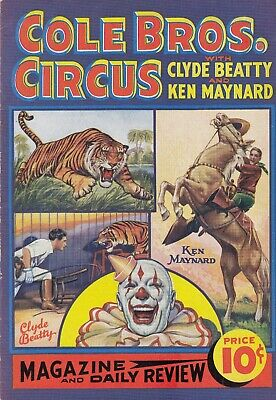 Lot 1942: Cole Bros. Circus Original Program W/ Stunt Cowboy Ken Maynard