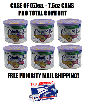 Case of (6) Similac Pro Total Comfort Baby Formula, 7.6 oz. cans, EXP FEB 2020