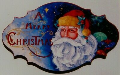 """Pipka tole painting rare pattern """"A Merry Christmas Sign"""""""