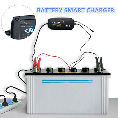 Smart Car Battery Charger 12V 2/4/8 A  Bike Automatic Motorcycle Marine Boat