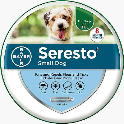 Seresto Flea & Tick Collar for Small Dog Under 18lbs, EPA Approved Anti 8 Months