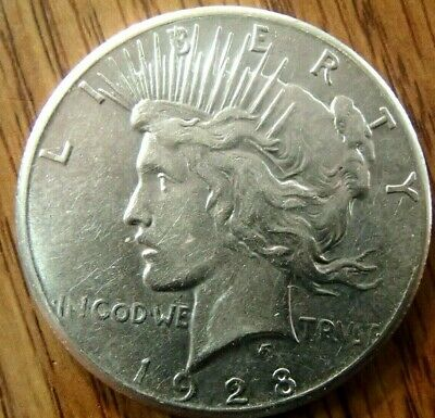 1928 Peace Dollar Nice High Grade Circulated Coin #1 No Problem Xf/Au Coin