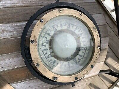 Antique E.S. Ritchie & Sons Antique Boat Compass Circa 1930's Rare Find Ships