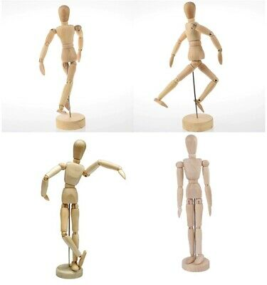 """12"""" Mannequin Wooden Puppet Joints Toy Manikin Model Doll Painting Sketch Wood"""