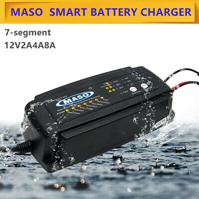 Smart Car Battery Charger 12 V 2/4/8 A  Automobile Motorcycle Marine Boat