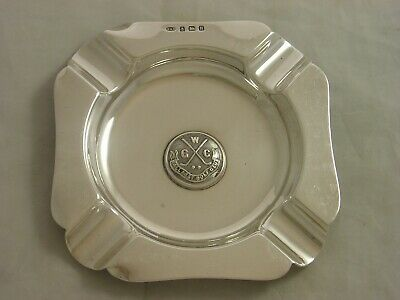 WALLASEY GOLF CLUB 1932 Boodle Dunthorne Silver ASHTRAY 111 grams heavy example
