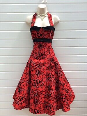 Rockabilly Dress,Rock,Goth,50'S,60'S,Repro-Vintage,Collectif,Tattoo,Size 12-14
