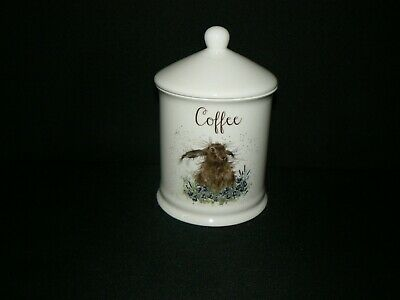 Royal Worcester Wrendale Coffee Storage Jar / Pot With Lid - Hare / Rabbit