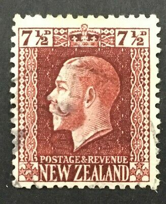 New Zealand 1915-30. 7½d red brown, perf 14 x14½. SG 426a Very fine used...