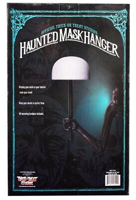 HAUNTED MASK HANGER Helmet Mask Display Stand Wall Mount Haunted Mansion