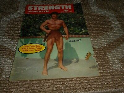 Tarzan Gordon Scott Strength and Health Magazine September 1955 Vintage 1950s