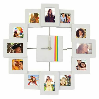 Polaroid 12 Picture Analogue Clock Photo Frame Picture Holder - Boxed Collage