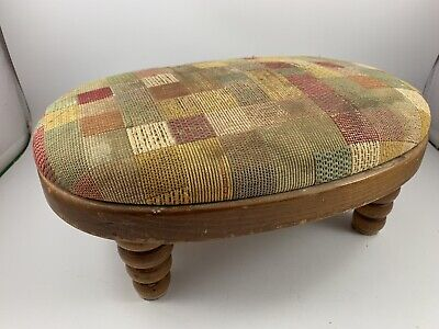 Vintage TELL CITY Small Maple Oval Stool
