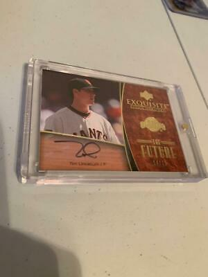 2007 Exquisite Tim Lincecum Auto  RC Card #d 14/15