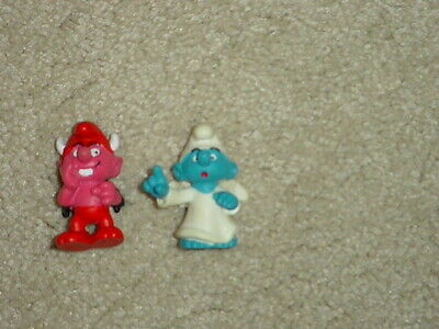 1984 Smurfs - Angel and Devil -  Both in Terrific Condition  Set