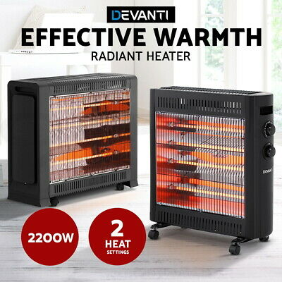 Devanti 2200W Infrared Radiant Heater Electric Portable Convection Heat Panel