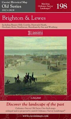 Brighton and Lewes (Cassini Old Series Historica... by VARIOUS Sheet map, folded