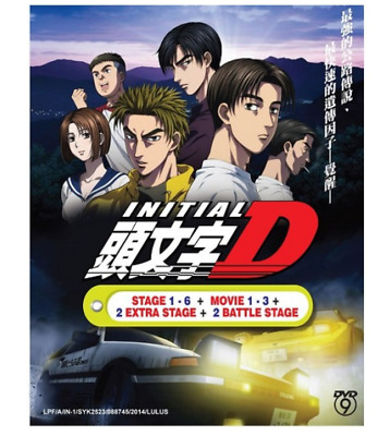 DVD Anime Initial D stage 1-6 +Movie 1-3+2 Extra stage +2 battle stage Japanese