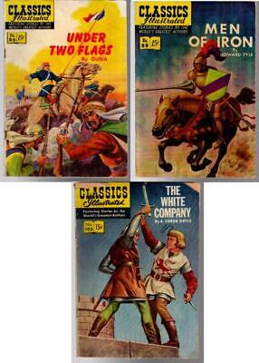Classics Illustrated 1st Editions 86 UNDER TWO FLAGS, 88 MEN OF IRON, 102 WHITE