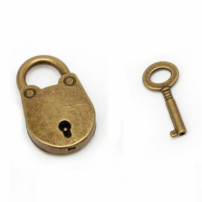Mini Vintage Old Antique Padlock Key Lock with Key For Jewelry Box Drawer